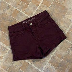 American Eagle hi rise shortie jean shorts size 2